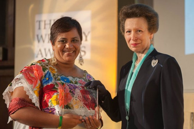 HRH Princess Anne presents Whitley Award to Lisel Alamilla