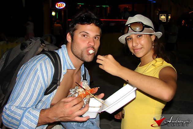 Tourists enjoying Lobsterfest in San Pedro