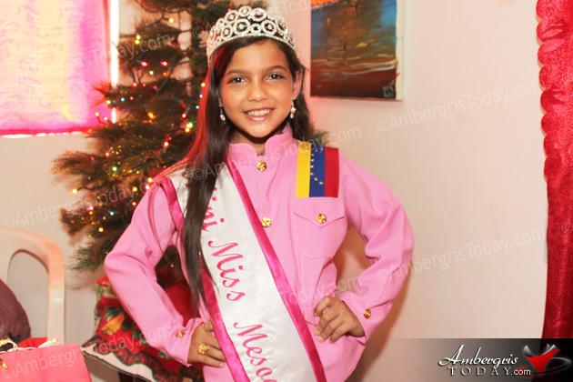 Luismarth Bandres Mini Miss Mesoamerica International Visits San Pedro