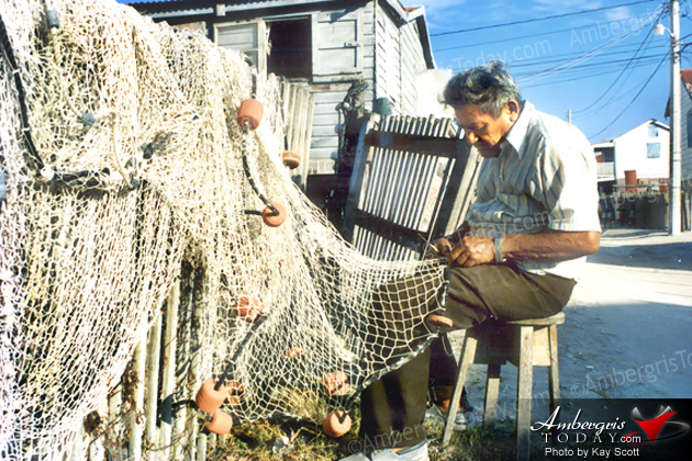 Dying Arts Of Fishermen -Pablo Guerrero making a fishing gill nets