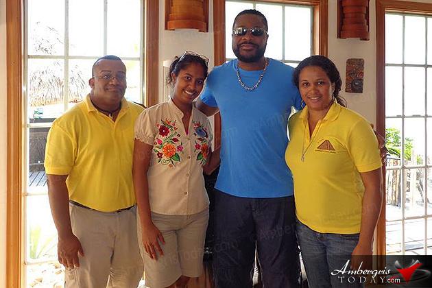 Actor Malcolm-Jamal Warner on Easter Break in San Pedro, at X'tan Ha Resort