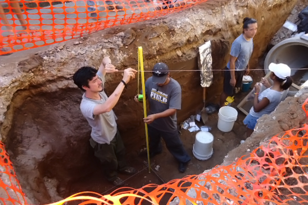 Maya artifacts and human remains found in San Ignacio Town Excavation