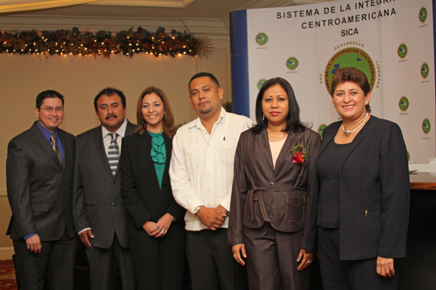 Belize delegation at Regional SICA Meeting
