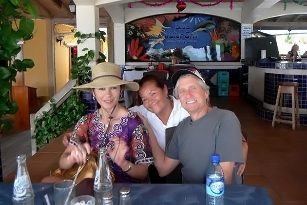 Michael Douglas and Wife Dine at Blue Water Grill
