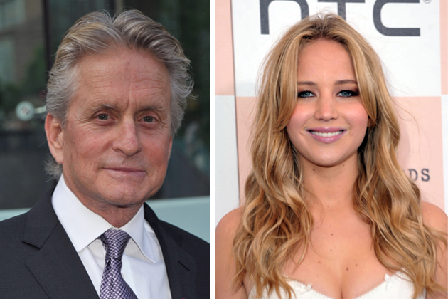 Michael Douglas and Jennifer Lawrence