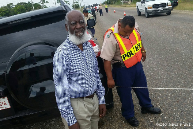 Belize Minister Visits Traffic Accident Victim After Hit in Highway