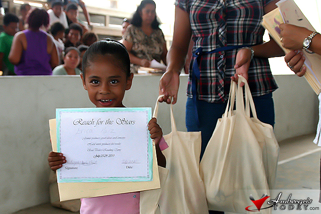 Children receive their certificate of completion