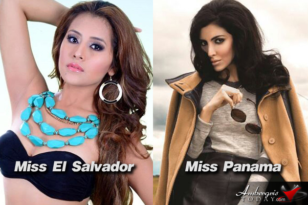 Miss El Salvador and Miss Panama Costa Maya Pageant Contestants