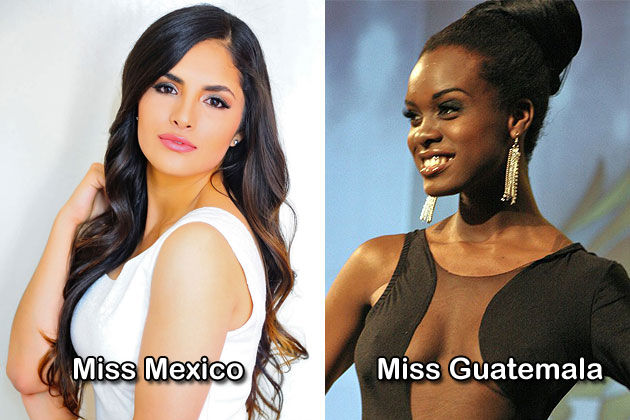 Miss Mexico and Miss Guatemala for Costa Maya Pageant