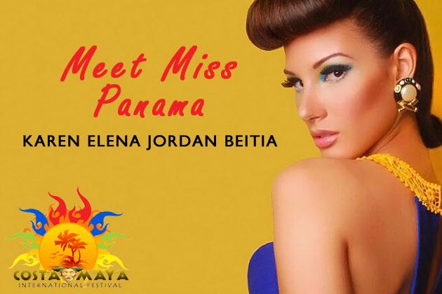 Miss Panama Costa Maya Karen Elena Jordan Meitia