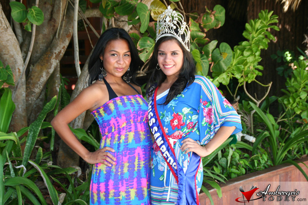 Queen of the West Ronelli Requena and Miss San Pedro Yakarelis Hernandez
