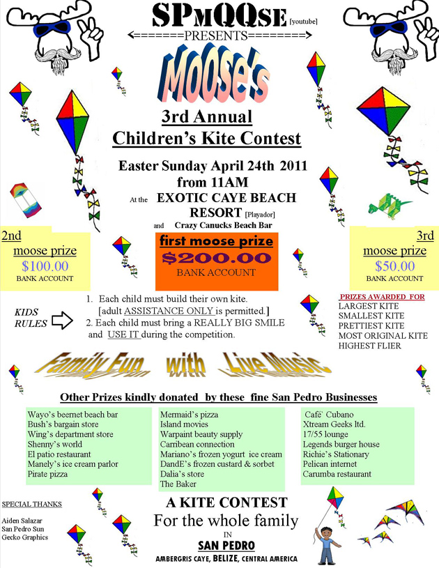 Moose's 3rd Annual Kite Flying Competition