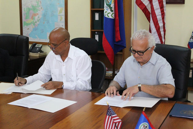 Belize USA Sign Amendment International Narcotics Law Enforcement Affairs