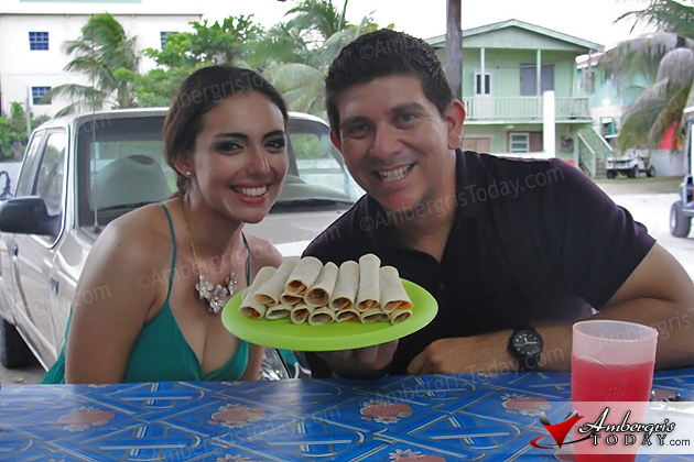 Editor Dorian Nuñez enjoys Neri's Tacos with breakfast buddy Raquel Badillo