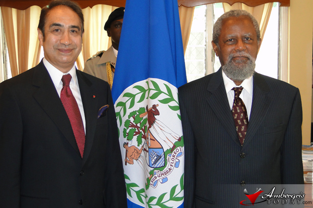 His Excellency Mario Velázquez Suarez and Sir Colville Young