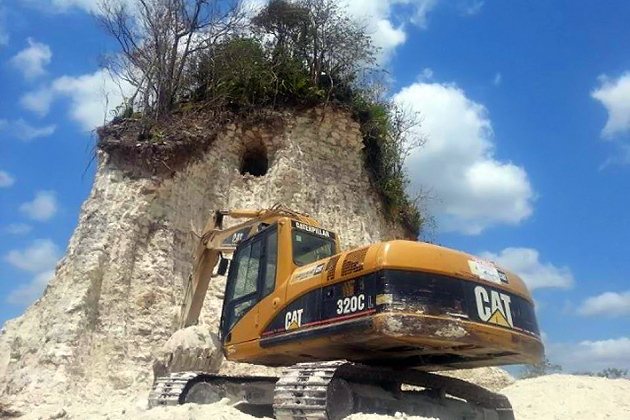 Noh Mul Maya Pyramid in Belize Destroyed for Landfill