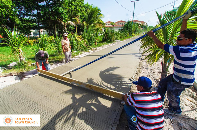 Paving Upgrade of North Ambergris Caye Road has Commenced