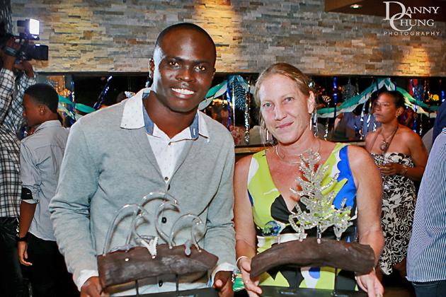 Ocean Hero Award Winners Coral Researcher Lisa Carne Manatee Expert Jamal Galves