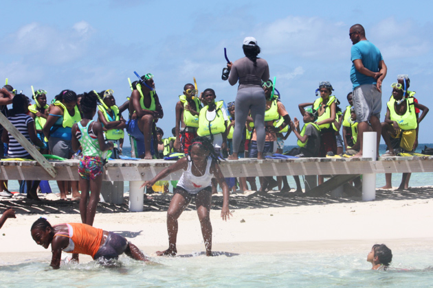 Oceana sponsors Goff's Caye Trip to City Campers