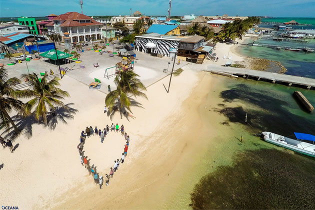 Belizeans join hearts and hands to show their love for marine resources
