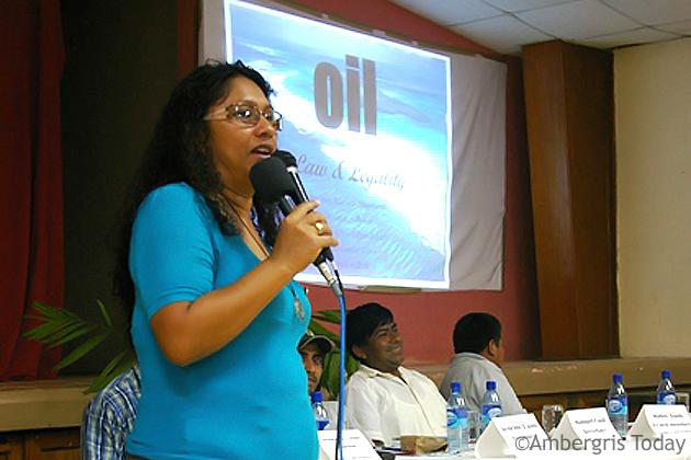 Mrs. Audrey Matura – Shepherd, VP of Oceana Belize, presented on the inadequacie