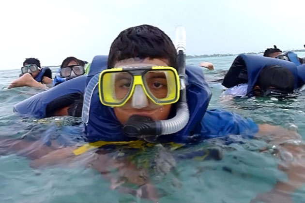 Oceana Belize Sponsors Student's first trip to the Great Barrier Reef