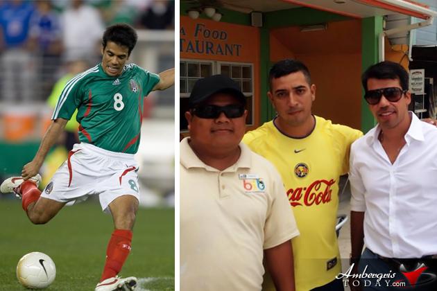 Mexican Footballer Pavel Pardo Visits San Pedro