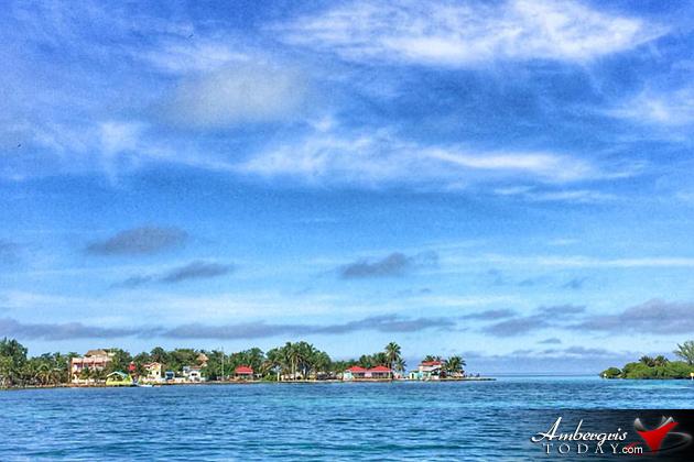 Approaching the Caye Caulker Split by Sea