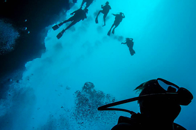 Into the Deep Blue Hole of Belize
