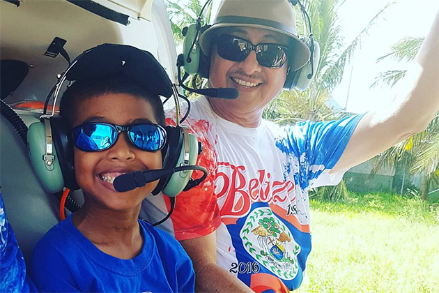 Helicopter Ride with Grandpa Mayor Danny