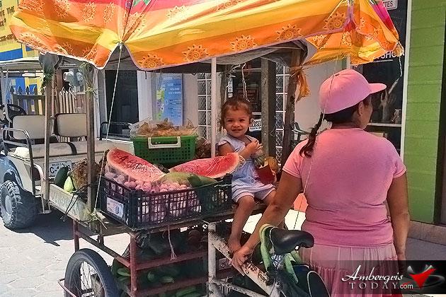 Fruit Vendor in San Pedro, Ambergris Caye, Belize