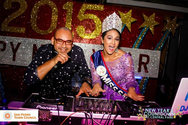 Miss San Pedro, Michelle Nunez, Rocks into 2015 New Year Celebrations