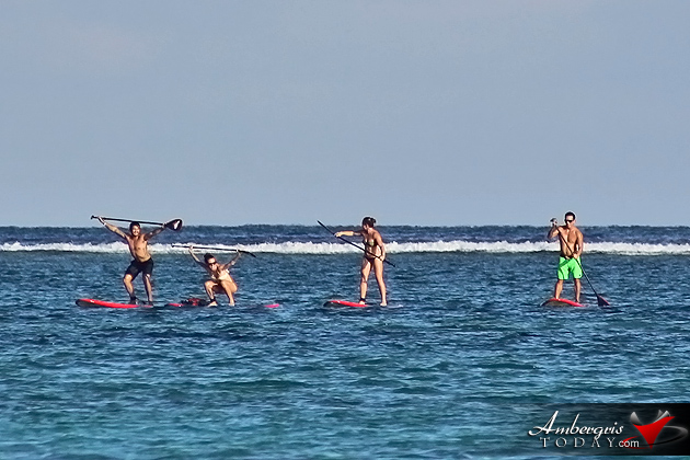 CrossFit Junkies Paddleboard to the Reef
