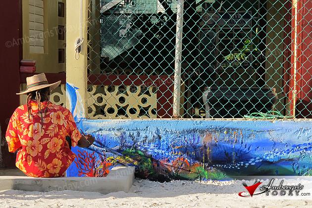 Beautifying San Pedro With Colorful Murals, Isla Bonita Elementary School