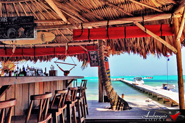 Everything is Better Under a Palapa in San Pedro, Rojo Beach Bar