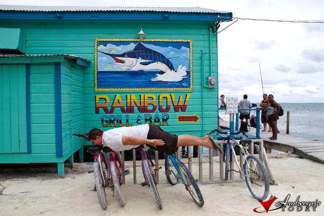 Dorian Planking in Caye Caulker