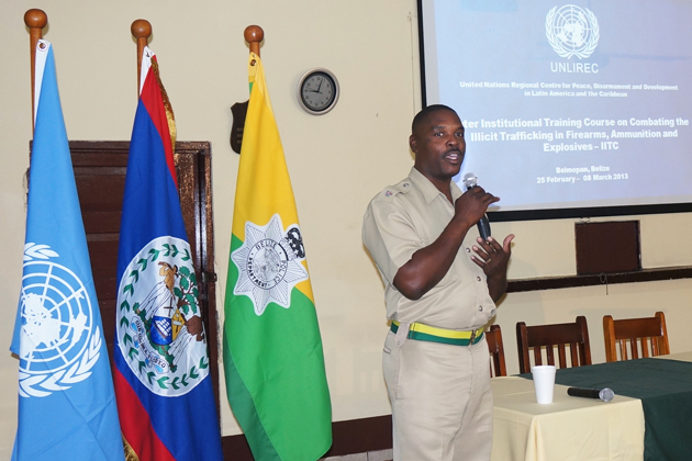 Belizeans Trained in Combating Illicit Trafficking Firearms, Ammunition and Expl