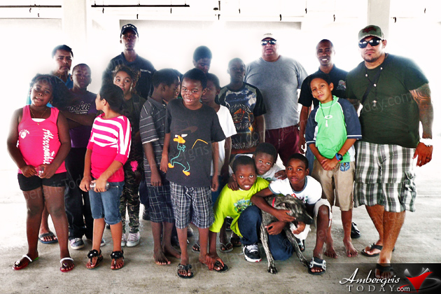 San Pedro Youth Cadets Enjoy Island Life