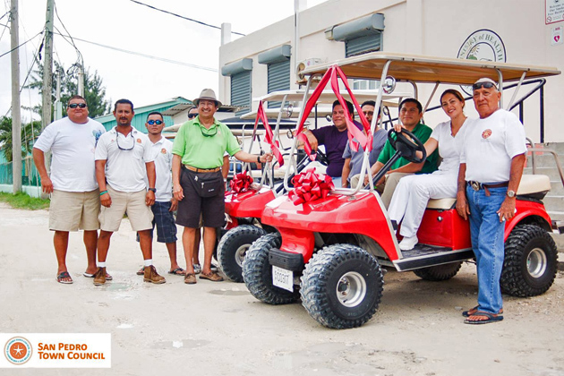 Golf Carts Donated Dr. Otto Rodriguez Polyclinic II San Pedro, Ramon's Village