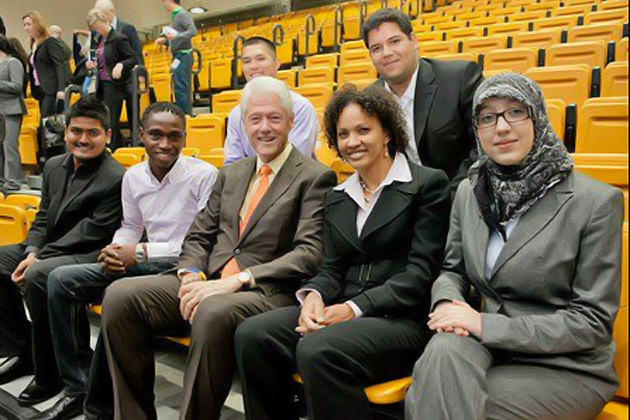 Raquel Battle, second from right. (Photo courtesy of Adam Schultz/Clinton Global