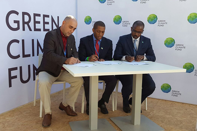 Readiness Grant agreement Green Climate Fund & Belize