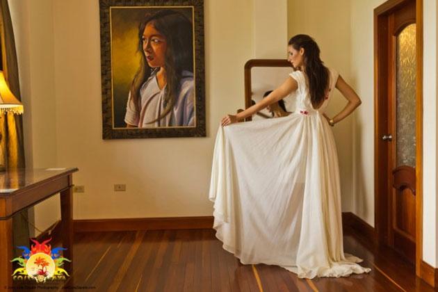Miss Panama Costa Maya Karen Elena Jordan Meitia modeling Rebecca Stirm design