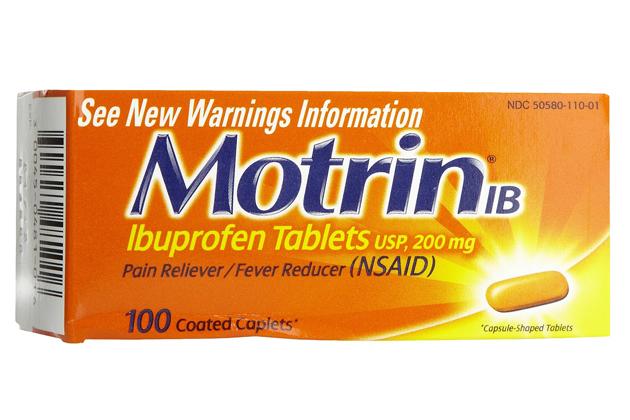 Recall on Motrin Tablets