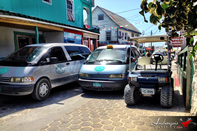 Traffic in San Pedro, Ambergris Caye, Belize