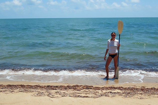 MatadorU travel blogger Megan Wood in Belize