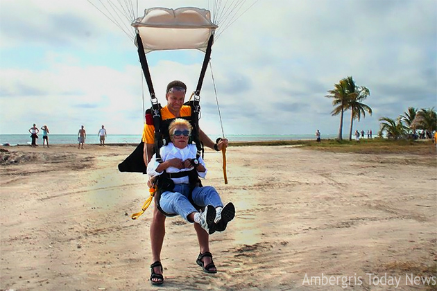 Rosalie Staines loves to skydive - photo archive