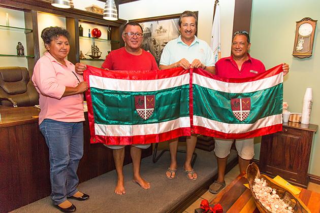 San Pedro Town Boasts New Flag and Coat of Arms