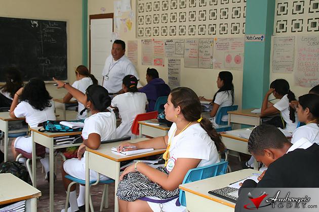 Classroom at San Pedro High School