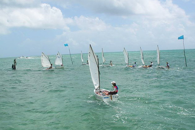 Junior Sailors Battle for National Championships Spot at St. George Caye