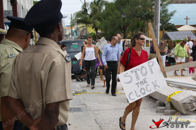 Residents Hold Public Protest Against Town Clock